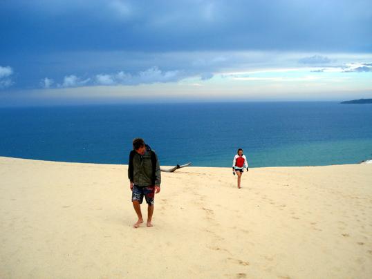 beach sand. Taimboe Beach sand blow.
