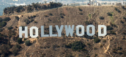 PUBLIC DOMAIN SOURCE: http://en.wikipedia.org/wiki/File:Aerial_Hollywood_Sign.jpg