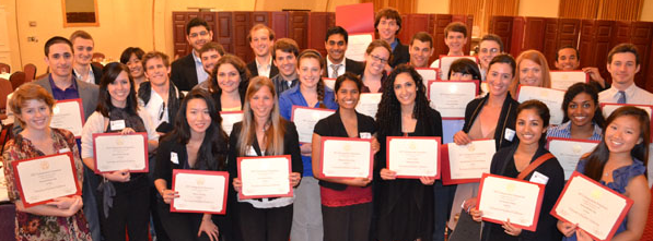 Honors Students Receiving Awards at Symposium