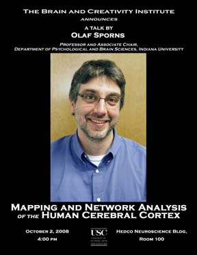 OLAF SPORNS OCTOBER 2008 LECTURE POSTER