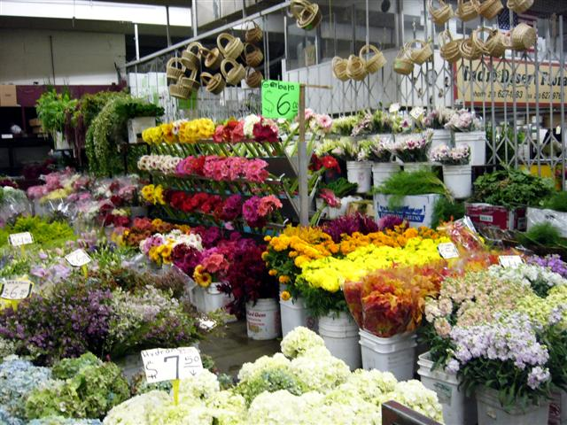 flower market downtown los angeles walking tour usc and