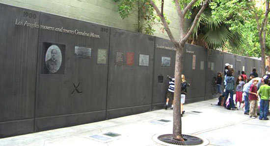 Biddy Mason Park Downtown Los Angeles Walking Tour Usc Dana And David Dornsife College Of Letters Arts And Sciences