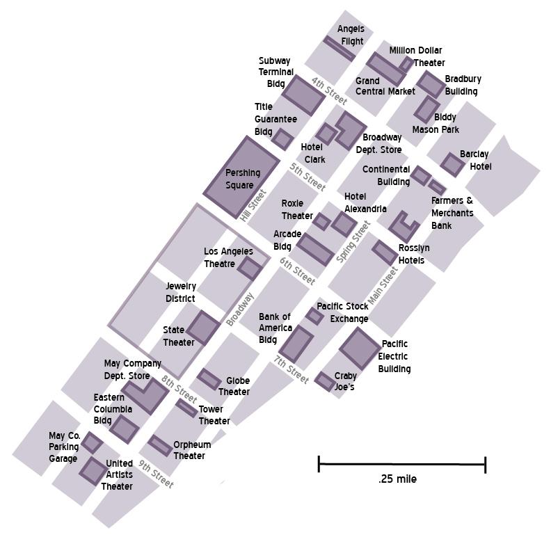 Downtown La Walking Tour Map on