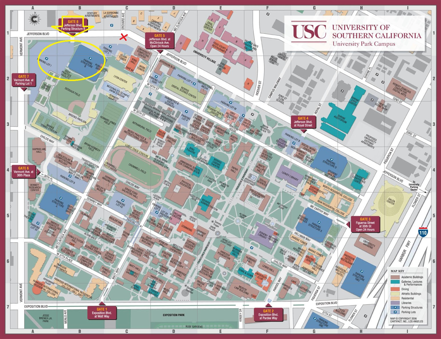 contact  bridge institute backup  usc dana and david dornsife  - our location on the usc campus map