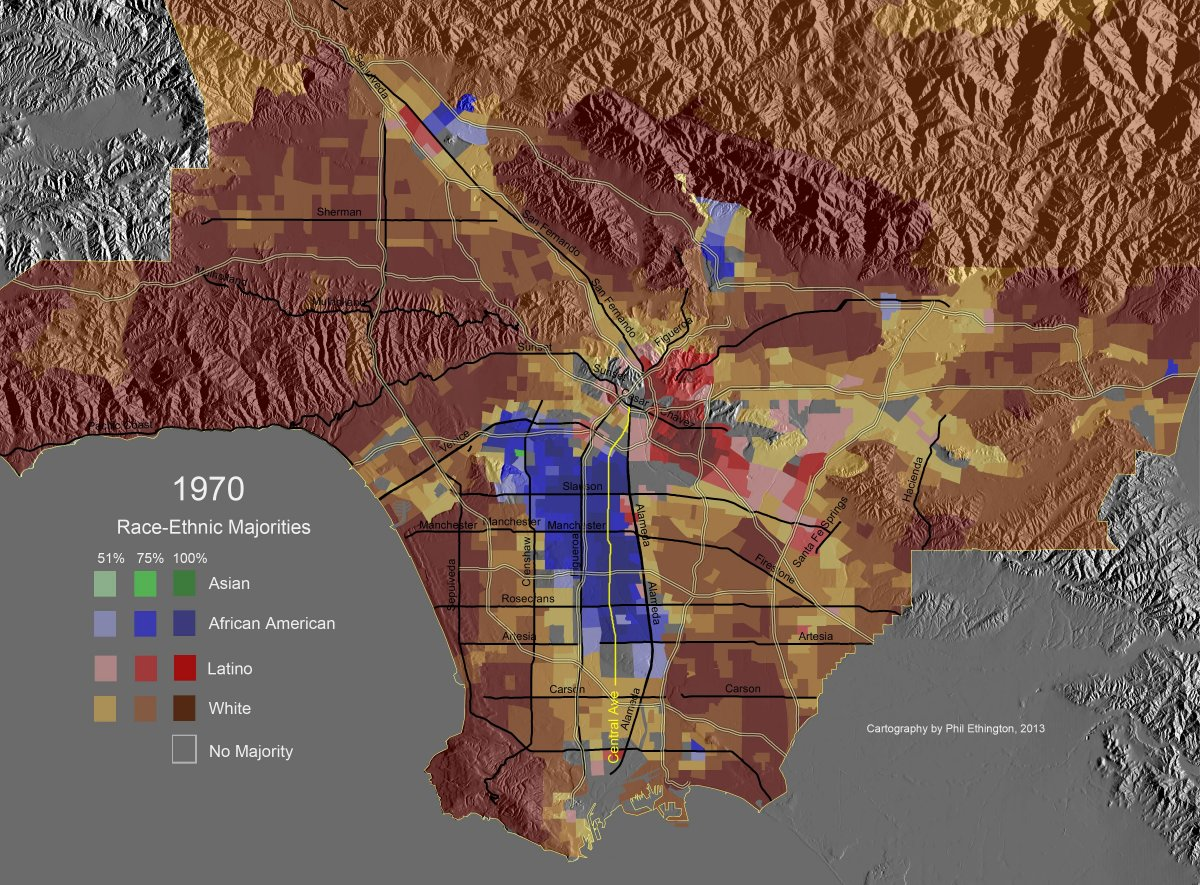 Central Los Angeles Map on