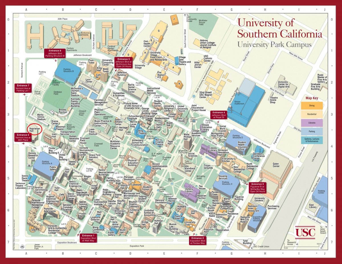 Usc Campus Map Pdf | Path Map
